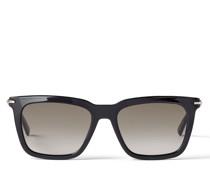 TIP Eckige Sonnenbrille aus schwarzem Acetat mit braun getönten Gläsern