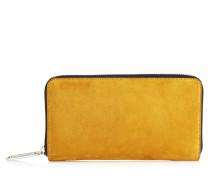 Milly Brieftasche aus grünem Nappaleder und Wildleder