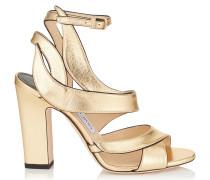 Falcon 100 Sandalen aus goldenem Nappaleder in Metallic-Optik
