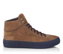 Argyle Sneaker aus khakibraunem Wildleder
