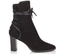 Hampton 80 Stiefel aus schwarzem Leder und Wildleder