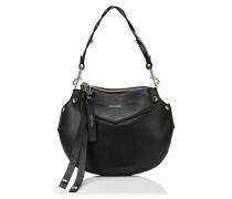 Artie Mini Handtasche aus schwarzem Nappaleder