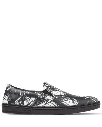 Grove Sneaker aus Kalbsleder mit schwarz-weißem Vandalen-Print