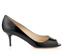 Isabel Peeptoe-Pumps aus schwarzem Lackleder
