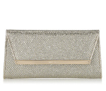 Margot Clutch aus Glitzergewebe in Champagner