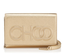 Sonia Mini-Tasche aus goldenem Nappaleder mit Metallic-Optik