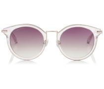 Raffy Sonnenbrille mit rundem Gestell und Glitzerdetails
