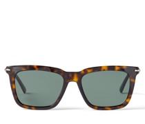 TIP Sonnenbrille aus Acetat in Havana mit grünen Gläsern