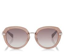 Mori Sonnenbrille aus Acetat in Opal und Nude mit Nietendetails