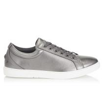 Cash Sneaker aus weichem stahlfarbenen Nappaleder in Metallic-Optik