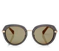 Mori Sonnenbrille aus schwarzem Acetat mit Nietendetails