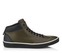 Varley Sneaker aus waldgrünem Kalbsleder