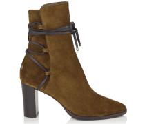 Hampton 80 Stiefel aus Leder und Wildleder in Olive