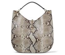 Varenne Hobo/l Große Handtasche aus natürlichem Pythonleder mit JC Emblem