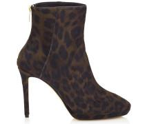 Harvey 100 Stiefeletten aus Leder mit Fell-Print und Leopardenmotiv