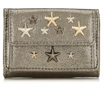 Nemo Portemonnaie aus Glitzerleder in Anthrazit mit metallischen Sternen