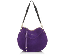Artie Handtasche aus violettem Wildleder