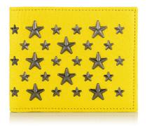 Mark Portemonnaie aus gelbem Leder mit Sternen