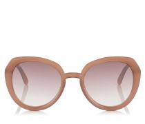 Mace Sonnenbrille aus Acetat in Opal Nude mit Glitzerdetails