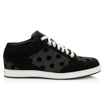 Miami Low-Top-Sneaker mit Glitzer-Lamé und schwarz gepunktetem Motiv