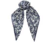 Egle Schal mit Print in Blaugrau