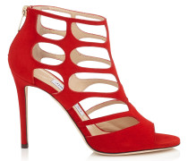 REN 100 Sandalen aus rotem Wildleder