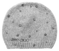Hana Mütze aus grauer Wolle mit kleinen Sterndetails