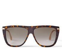 Suvi Sonnenbrille aus dunklem Havana mit braunen getönten Gläsern