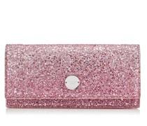 FIE Abendtasche aus Dégradé-Glitzergewebe in Flamingo und Eisplatin