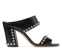 Matty 85 Sandaletten aus schwarzem Nappaleder