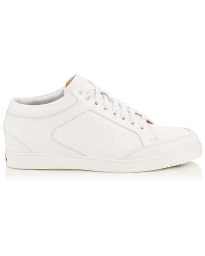 Miami Low-Top-Sneaker aus weißem Kalbsleder