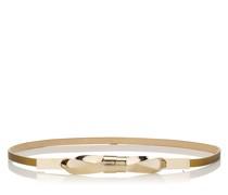 BOW Belt Gürtel aus gold-metallischem Leder