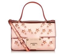 Rebel Soft Mini Kleine Umhängetasche aus rosanem Glitzergewebe mit Sternen