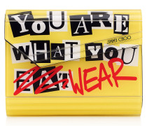 Candy Clutch aus Acryl mit You Are What You Wear Print