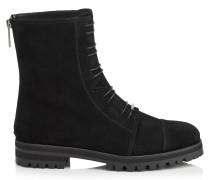 Haze Flat Spitze Schuhe aus schwarzem Wildleder