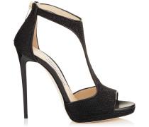 Lana 120 Sandalen aus schwarzem Gewebe