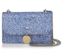 Finley Kleine Umhängetasche aus kobaltblauem Glitzergewebe