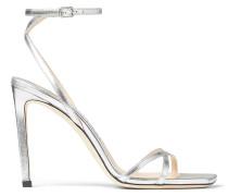 Metz 100 Sandaletten aus silbernem Nappaleder mit Metallic-Optik
