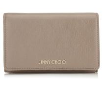 Marlie Brieftasche aus weichem genarbtem Ziegenleder in hellem Mocha