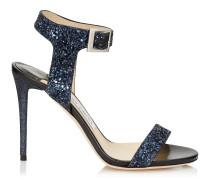 Truce 100 Sandalen aus grobem dunkelblauen Glitzergewebe