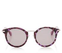 Raffy Sonnenbrille mit rundem Gestell in Havana und Violett