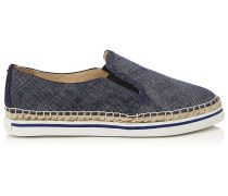 Dawn Espadrilles aus Denim-Leder