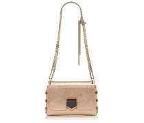 Lockett Mini Handtasche aus goldenem Spazzolato-Leder in Metallic-Optik