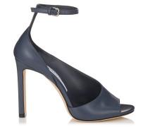 Theresa 100 Sandalen aus blaugrauem Kalbsleder