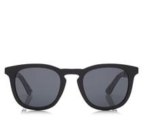 BEN Sonnenbrille im Wayfarer Stil in Schwarz