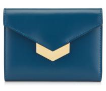 Leonie Portemonnaie aus mitternachtsblauem Spazzolato-Leder
