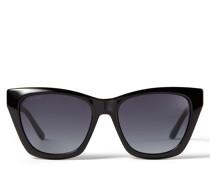 Rikki Cay-Eye Sonnenbrille in Schwarz mit glitzerndem Choo Logo