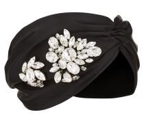 IVY Kopfband aus Seide in Schwarz mit Kristall