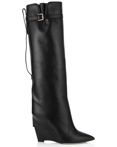 Davis 100 Stiefel aus schwarzem glänzendem Kalbsleder