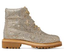 JC X Timberland/f Stiefel aus schimmerndem Wildleder in Gold Mix mit Hotfix Kristall